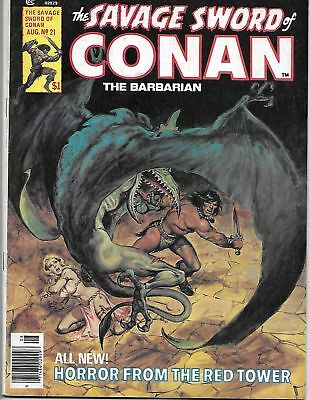 The Savage Sword of Conan The Barbarian #21 (1977) FN+ Marvel Comics