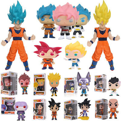 Funko POP Dragon Ball Z: Super Saiyan Goku Vegeta Beerus Vinile Azione Figura IT