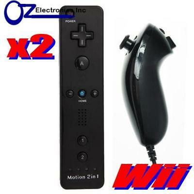 Remote Controller Wiimote Nunchuck Set for Nintendo Wii U 4 in 1 Offer Motion