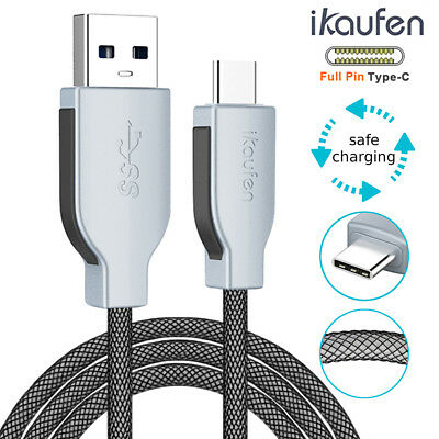 0.2M-3M Extra Long Strong USB Type C Charger Cable Lead Fast Charging Sync 3A