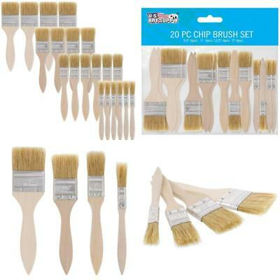 Us Art Supply 20 Pack Of Assorted Size Paint And Chip Paint Brushes For Paint, S