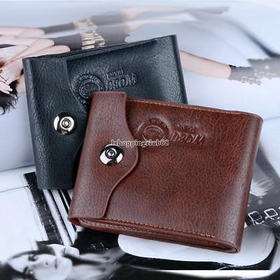 Men's Coin Slim Bifold Credit Card Clutch Holder Wallets Purse IS6H