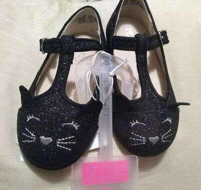 NEW The Childrens Place baby girls size 6 kitty Cat T strap  Flats/Shoes