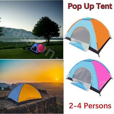 [Multi Color] Sundome 2-4 Person Dome Tent Pop Up Instant Cabin Screen Auto PSCC