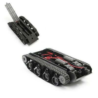 Smart Robot Tank Car Chassis Kit Rubber Track Crawler for Arduino 130 Motor UK