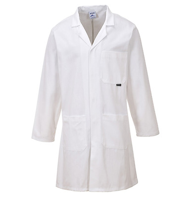 Portwest C851 Standard Coat Unisex Lab Jacket Food Trade Doctor Medical White