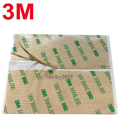 CLEAR 3M 300LSE 9495LE Acrylic Pad 2mm x 100mm x 0.17mm Thick ~ 2mm Wide STRIPS