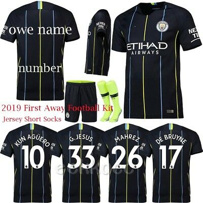 18/19 Football Team Outfit Soccer Full Jersey Kit & Socks Boys Kids Sports Suit