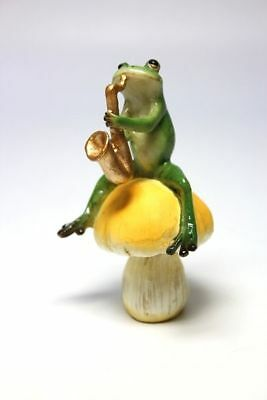 Frog Saxophone Mini Resin Figurine Figure Musician Music Band Japan Kawaii F/S