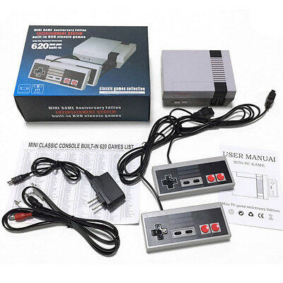 Retro Mini Entertainment Game Console with 620 Classic Games Mario+2 Controllers