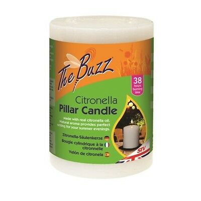 Citronella Pillar Candle By The Buzz