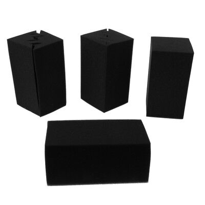 Durable 8PCS DIY Studio Corner Acoustic Foam Soundproofing Sponge Panels
