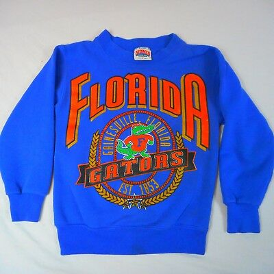 Vtg University of Florida (UF) Sweatshirt Youth Small (S) Blue Gators,NutMeg USA