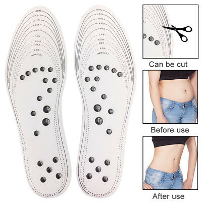 1 Pair Acupressure Slimming Insoles Foot Massager Magnetic Therapy Weight Loss