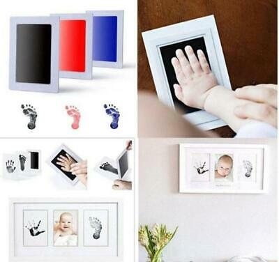 Baby Newborn Hand Foot Paw Print Imprint Touch Ink Pad Photo Frame Souvenir Gift