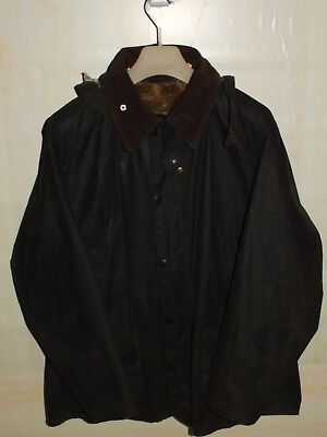 barbour bedale jacket waxed cotton  verde  + inner pile + pin + hood  c46/117 xl