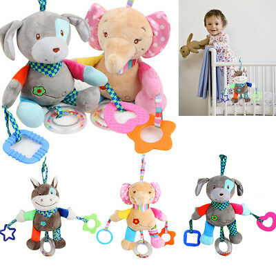 Baby Crib Cot Pram Hanging Rattles Spiral Stroller  Pushchair Toy Bell Teether