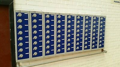 Personal effects staff office lockers keys blue (1 lot of 8 - 9 lots available )