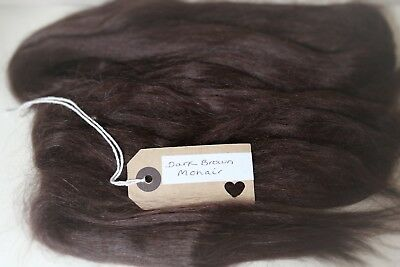 30g(approx 1oz)MOHAIR/FINE RICH DARK BROWN(WITHOUT RED TONES)STRAIGHT/WAVES/CURL