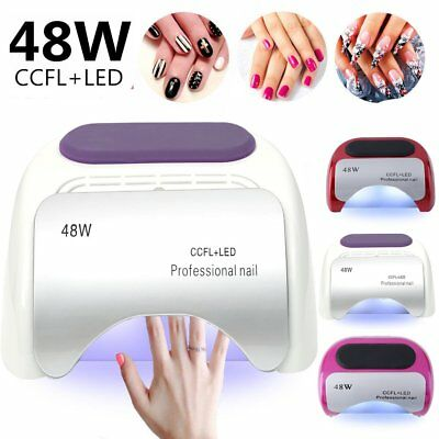 Professional Nail Art Light Dryer Manicure & Pedicure Uv Gel Curing Source · 48W CCFL LED UV Lamp Light Beauty Salon Nail Dryer Machine Gel Polish Curing SQ