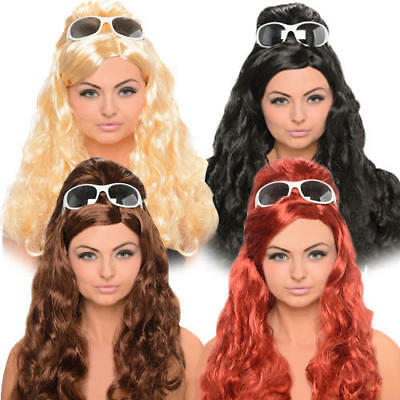 Long 1960s Beehive Penny Wig Adults Ladies Fancy Dress 50s 60s Costume Accessory