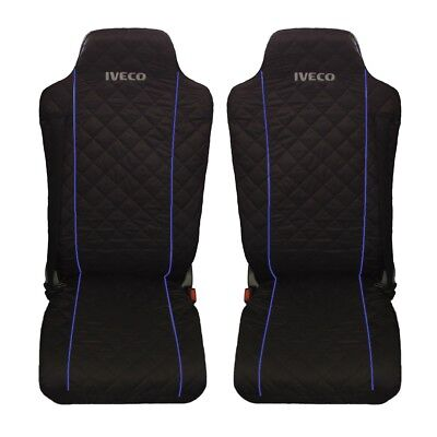IVECO Stralis Truck Seat Covers BLUE piping 2 piece (1+1)