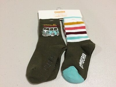 NWT Gymboree Boys socks Monster Wave Bus Socks Toddler 12-24,2T-3T