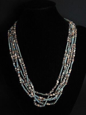 5 ANCIENT EGYPTIAN MUMMY BEADS Strands in Original state