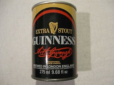 *Vintage 1977* Short 2-Panel Guinness Extra Stout 275ml Steel Beer Can - London
