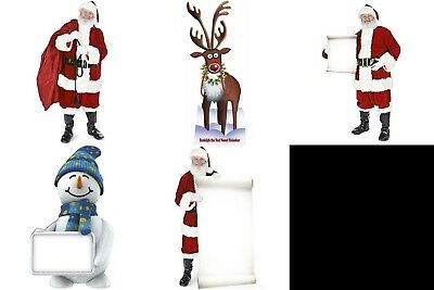 Christmas Cardboard Cutout Party Decorations Holidays Xmas Santa Winter