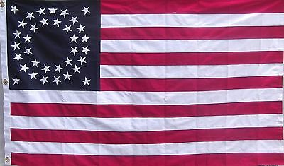 Heavy Cotton 35 Star American Flag - Embroidered Stars - Historical Usa