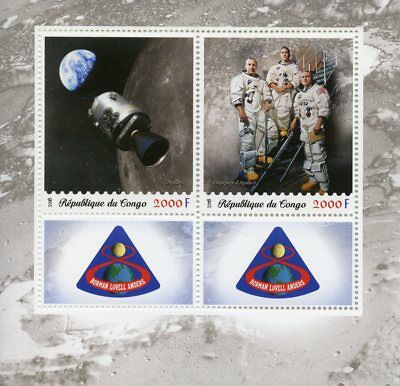 Congo 2018 MNH Apollo 8 50th Anniv Borman Lovell Anders 2v M/S Space Stamps