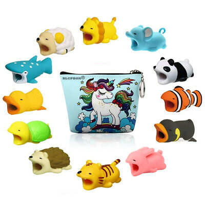 12 Pack Cute Animal Cable Bite Cable Protector Various Animal Cable Accessories