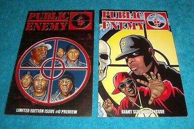 Public Enemy COMIC BOOK 0+1 LOT/American Mule Entertainment/Chuck D/Flavor Flav