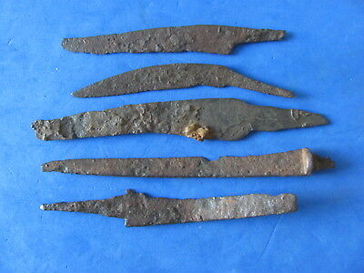 RARE Lot (5)  ANCIENT Roman - Medieval Iron Knives