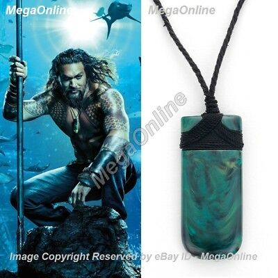 Aquaman Arthur Curry Pendant Necklace Maori Jade Adze Toki Cosplay Jewelry Novelty & Special Use