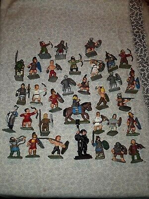 *SALE* VINTAGE TOY LEAD, ASS'T ROMAN/MEDIEVAL SOLDIER LOT of 33, TINY: 1 1/2""