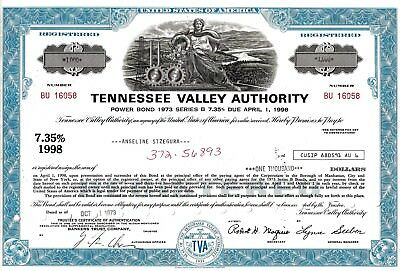 Tennessee Valley Authority, 1973,  7,35% Power Bond Ser. B due 1998 (1.000$)