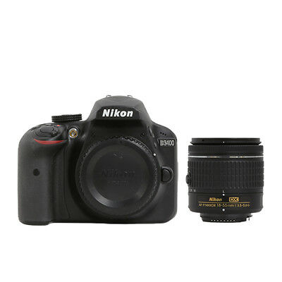 Nikon D3400 24.2 MP DSLR Camera + 18-55mm VR AF-P Lens