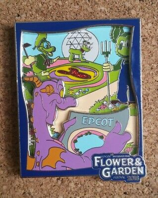 Disney Pin Figment Epcot Flower and Garden Festival 2018 Annual Passholder LR