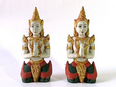 Very Beautiful Pair of  Antique The Figure of Deva Cheap Don't Miss