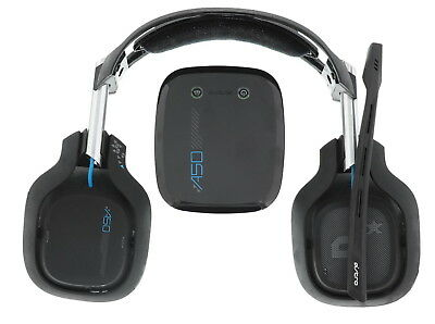 ASTRO Gaming A50 Wireless Dolby Gaming Headset - Black/Blue Missing ear pads.