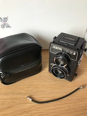 Lubitel 166B Vintage Film Camera, LOMO TLR Twin Lens, With Case.