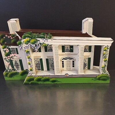 Gone With The Wind Tara Sheilas Wood House 1995 Signed Collectible Plantation