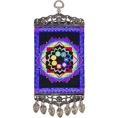 Small 4 inch by 10 inch Chakras Wall Hanging Carpet