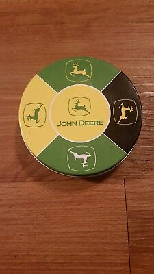 john deere coaster set of 5 with tin