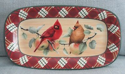 "Lenox WINTER GREETINGS Everyday Tartan 14"" Bread Tray Serving Platter- Mint!"