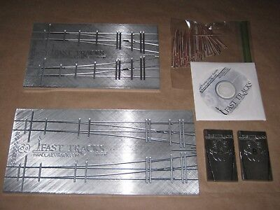 Fast Track, Code 83, #6 & 8 Turnout Fixture, Grinding Jigs, PC Board Ties, Video
