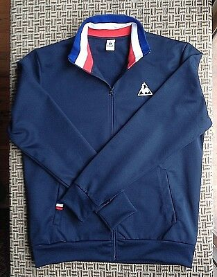 Le Coq Sportif Mens Track Jacket Size L Made In Portugal