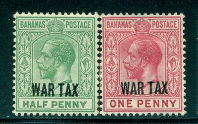BAHAMAS MR6-7 SG96-97 MH 1918 War Tax short set of 2 Cat$5